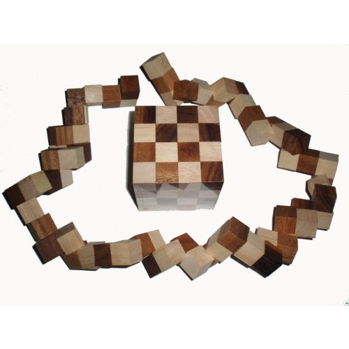 Snake King 4x4x4 Size Large Wood Puzzle And Brain