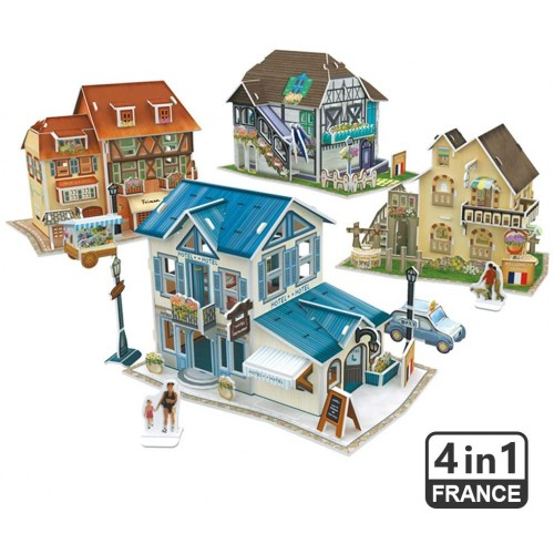 Cubicfun 3D French Puzzles For Cityscapes Architectural Building Model Kits 161 Pieces