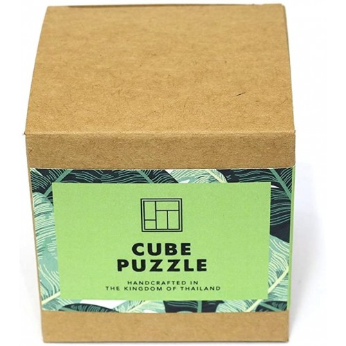 Cube Puzzle Wooden For Adults A Handmade 3D Brain Teaser Soma From