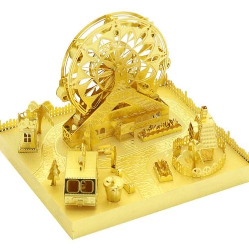 Mu Amusement Park Ferris Wheel 3D Metal Puzzle Assemble Model Kits Diy Laser Cut Jigsaw Toy