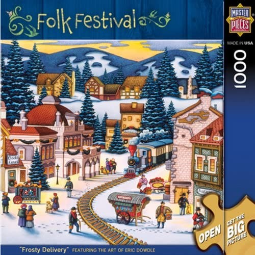 Masterpieces Folk Festival Collection Frosty Delivery Jigsaw Puzzle