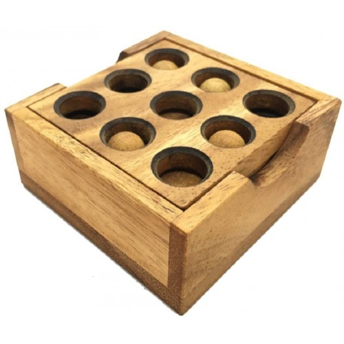 Handmade Golf Puzzle Gopher Holes Organic 3D Brain Teaser Wooden For Adults