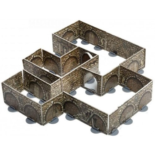 Umbum Innovative 3Dpuzzles Dungeon Walls On Stands 90 Pcs Clever Paper