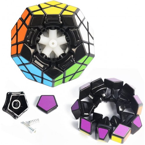 Joytown Bundle Pack Speed Cube Set Of 2 Megaminx Speedcubing Gold Mirror Twisty Puzzle With