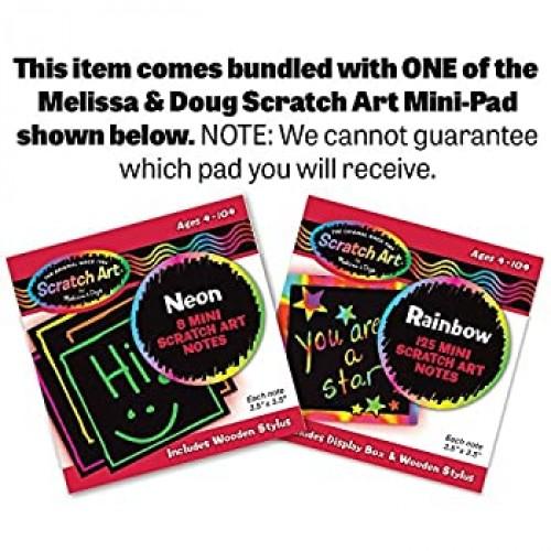 Melissa Doug Wooden Bear Family Dressup Puzzle 1 Scratch Art Minipad Bundle