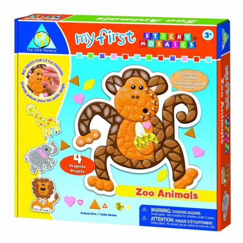 My First Sticky Mosaics Zoo Animals Craft Kit