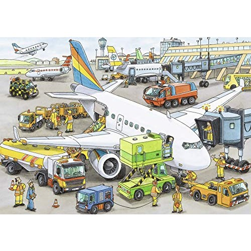 Busy Airport Airplane Jigsaw Puzzle