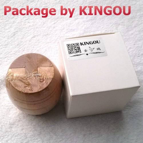 Kingou Boutique Wooden Primary Color Barrels Puzzle Brain Teaser Disentanglement Puzzles Assembling