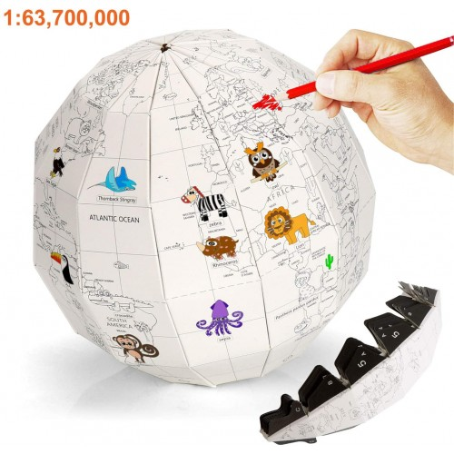 Fsy Educational Toys For Toddlers Puzzle World Globe Age 3 Proportion Of 163700000 Diameter