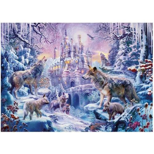 Daliyfu 1000 Piece Snow Wolf Puzzle Adult Winter Landscape Jigsaw Puzzles Educational Toys