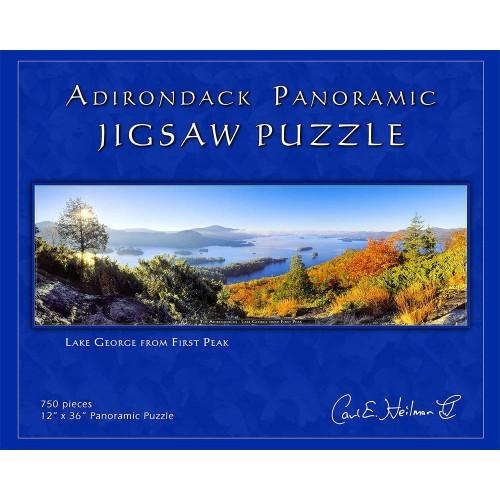 Adirondack Jigsaw Puzzle Panoramic Lake George From First Peak