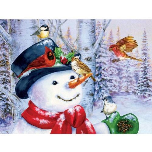Sunsout Inc Sweet Snowman 500 Pc Jigsaw