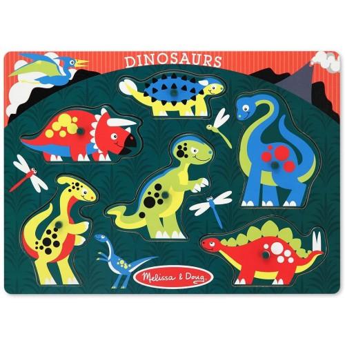 Melissa Doug Dinosaurs Wooden Peg Puzzle 6