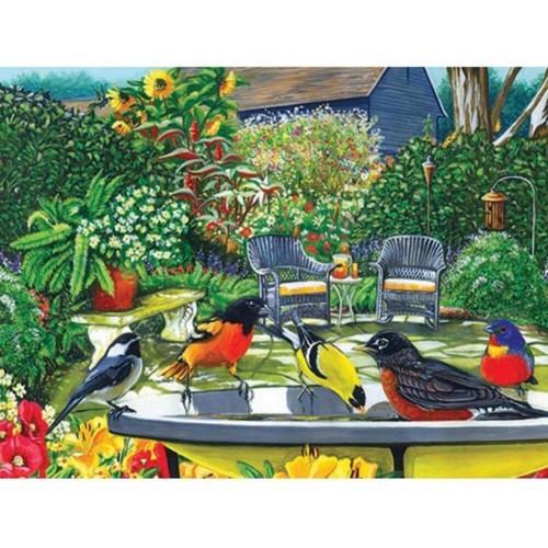 Cobble Hill Bird Bath 500 Piece Jigsaw