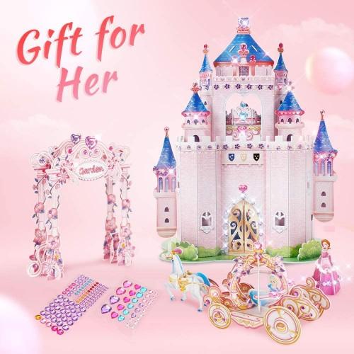 Cubicfun 3D Kids Puzzle Princess Doll House Gift For Women Secret Garden 5 Girl