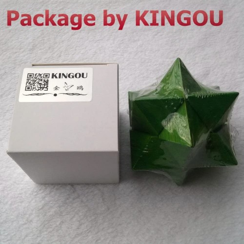 Kingou Bamboo Green Octagon Lock Logic Puzzle Burr Puzzles Brain Teaser Intellectual Assembly
