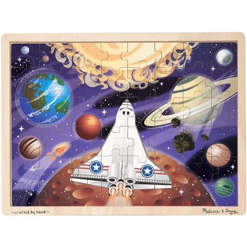 Melissa Doug Space Voyage Wooden Jigsaw Puzzle 48