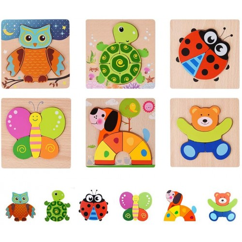 Pekirun Wooden Jigsaw Toddlers Puzzles Preschool Educational Kid Toys Gift For 1 2 3 Years Old Baby