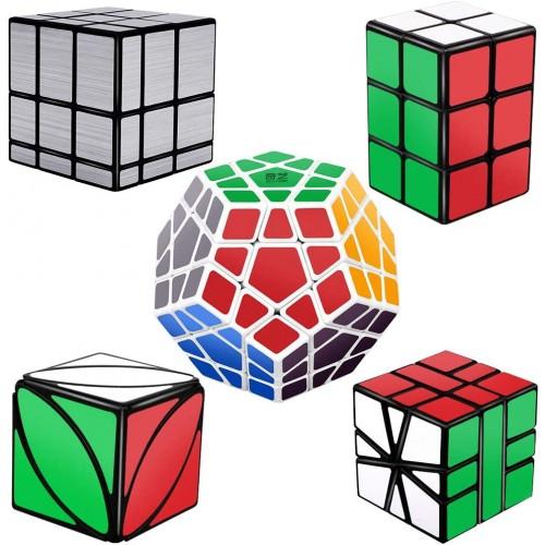Tresbro Speed Cube Set Of 5 Pack Mirror Megaminx 2x2x3 Cuboid Ivy Skew Sq1