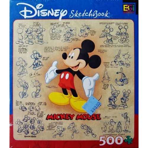 Disney Sketchbook Puzzle Mickey Educational Toys Planet