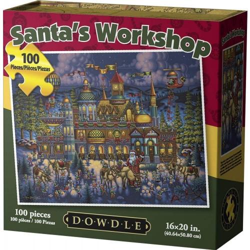 Dowdle Jigsaw Puzzle Santas Workshop 100