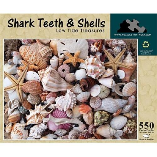 Shark Teeth And Shells Low Tide Treasures 550 Piece