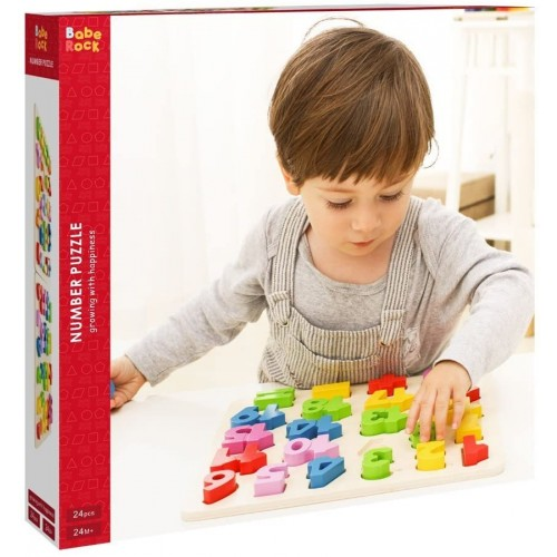 Babe Rock Wooden Number Puzzles For Toddlers 23 Years Old Boy Girl Learning Toys