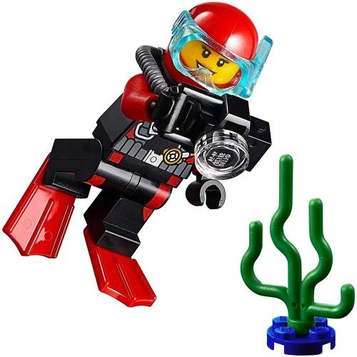 Lego City Minifigure Deep Sea Explorers Female Scuba Diver W Camera And