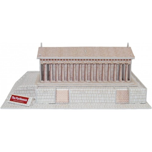 Runsong Creative 3D Puzzle Paper Model Parthenon Diy Fun Educational Toys World Great Architecture