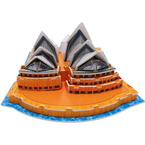Runsong Creative 3D Puzzle Paper Model Sydney Opera House Diy Fun Educational Toys World Great