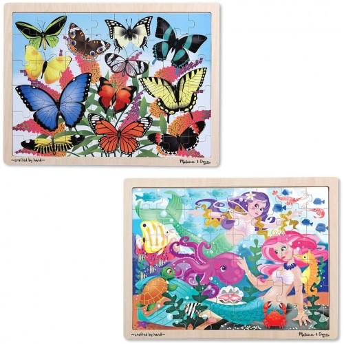 Melissa Dougwooden Jigsaw Puzzle Set Mermaids And