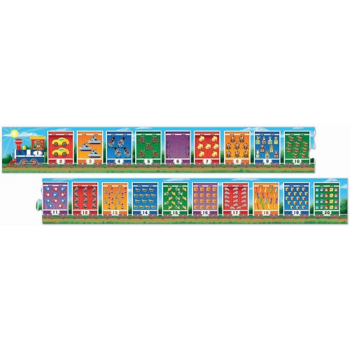 Melissa Doug Number Train Jumbo Floor Puzzle 20 Pieces 96 L x 7 W
