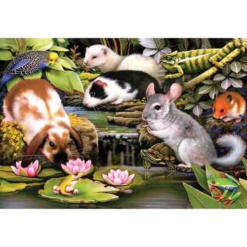Sunsout Inc Poolside Pets 100 Pc Jigsaw