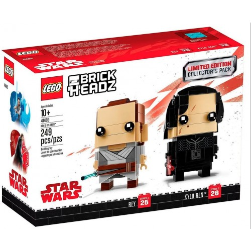Lego Brickheadz Limited Edition Star Wars Rey And Kylo Ren Collectors