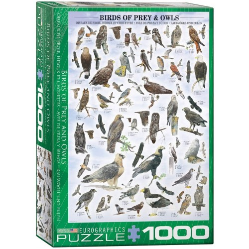 Eurographics Birds Of Prey And Owls Puzzle