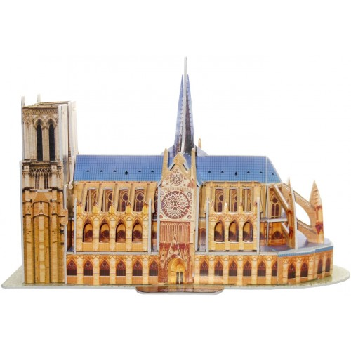 Runsong Creative 3D Puzzle Paper Model Notre Dame De Paris Diy Fun Educational Toys World Great