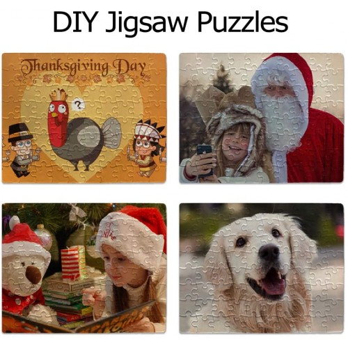 12 Pack Jigsaw Puzzles 80 Pieces Sublimation Blanks Diy Puzzle Blank A4 Custom For