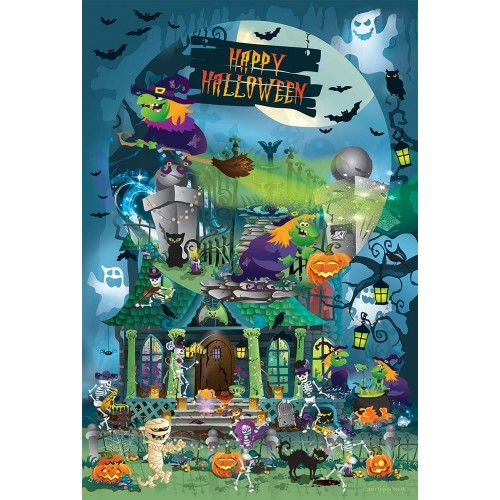 Trick Or Treat For All Ages Happy Halloween Family 625 Piece Jigsaw Puzzle By