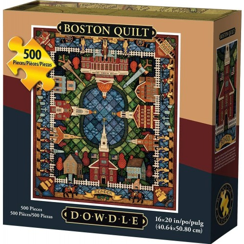 Dowdle Jigsaw Puzzle Boston Quilt 500