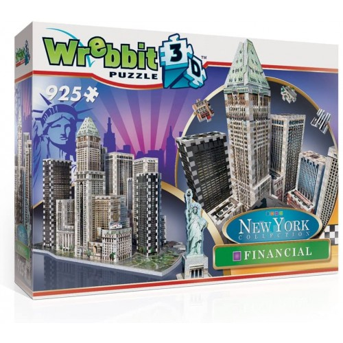 Wrebbit Puzz3D New York City Collection Financial District Nyc 3D Jigsaw Puzzle 925