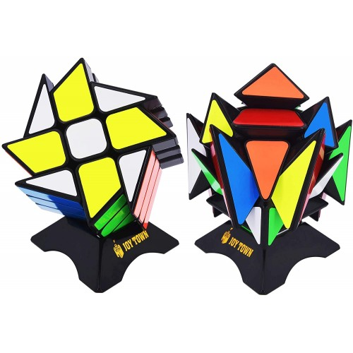 Joytown Speed Cube Set Of 2 Bundle Pack Windmill Magic Puzzle Yj Axis V2 New Version