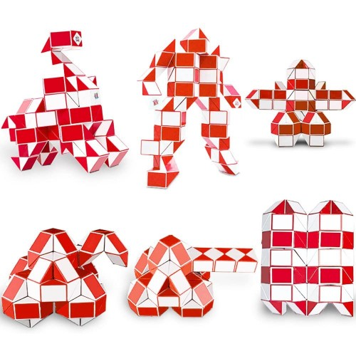 Nice Purchase Magic Snake Cube 144 Wedges Large Ruler Puzzle Twist Brain Teaser
