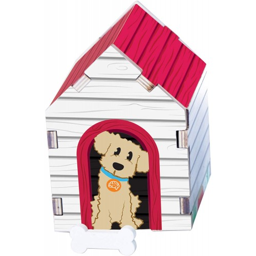 Fat Brain Toys Build It Blueprint Puzzles Dog House Building Construction For Ages 4 To