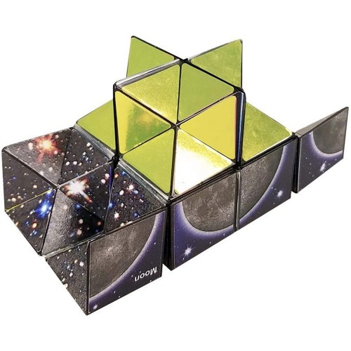California Creations The Amazing Star Cube 2 Piece Transforming Geometric Puzzle Solve To