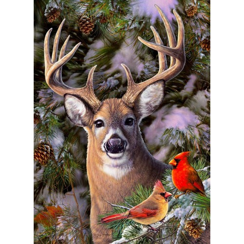 One Deer Two Cardinals Puzzle