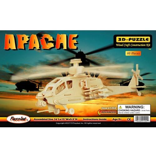 Puzzled Apache Wooden 3D Puzzle Construction