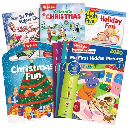 Highlights 9Piece Christmas Set With My First Hidden Pictures Ages