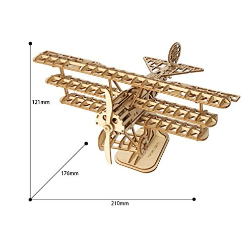 Robotime 3D Airplane Wooden Jigsaws Puzzle Kit