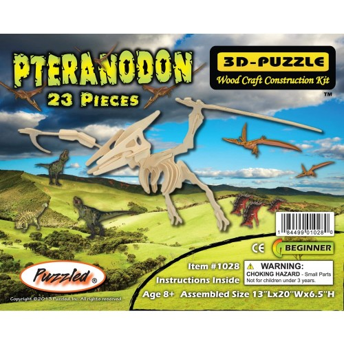 3Dpuzzle Wood Construction Kit Pteranodon Puzzle