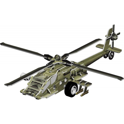 Smithsonian Mini 6 Ah64 Attack Helicopter 3D Build Play Motorized